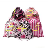 Victoria Pink Drawstring Bags Travel Shopping Bolsos Secret Makeup Bags Ropa interior Bras Bolsa de almacenamiento Big Capacity Storages