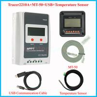 Wholesale Pv Solar Systems - 12v 24v solar system voltage auto solar regulator,tracer2210A mppt charge pv controller