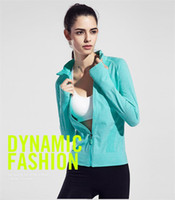 Wholesale Fast Drying Pants - Wholesale-2016 Female Zip Sweatshirt Women Fashion Sports T-shirt Running Yoga Fitness Fast drying Girl Lady Fitness Clothing Workout