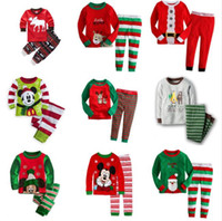 Wholesale Kids Santa Claus Pajamas - New Kids Pajamas Christmas Children Pajamas Sets Santa Claus Pijamas Sleepwear Cotton Clothing 2-7 years 6 sets l