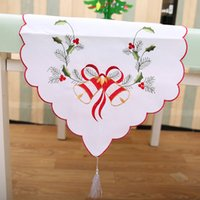 2017 Satin Table Runner 40 * 170cm bordado hueco hacia fuera corredor de la silla para Christams Wedding Decoración de vacaciones mesa de mesa Mantel