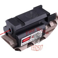 Tactical 532nm Red Dot Mirino laser con Picatinny Weaver Rail 22mm Mount per Glock 17 19 20 21 22 23 30 31 32