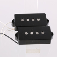 Wholesale Pickups For Bass - BASS GUITAR PICKUPS VINTAGE STYLE FOR P BASS ALNICO 5 MAGNETS BLACK
