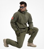 Wholesale Nylon Pant Suit - Winter Men's Army Camouflage Coat Windproof Waterproof Tactical Jacket and Pant army Suit