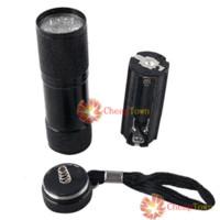 светодиодный фонарик 9led оптовых-[CheapTown] Blacklight невидимые чернила маркер 9LED УФ ультрафиолетовый фонарик Факел света 3AAA сохранить до 50%