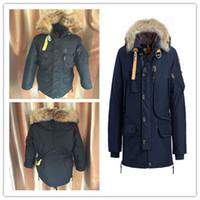 Wholesale Winter Man Goose Down Parka - 2017 Hot Sale Luxury men's kodiak down Jacket Hoodies Fur Fashionable Winter Coats Warm Parka Free shipping