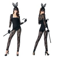 Wholesale Women Clothes Bunnies - Nightclubs uniform temptation appeal bunny conjoined with lace female rabbits evening appeal uniform clothing bar