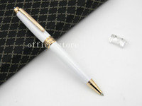 Wholesale Note Number - 163 WHITE golden metal MB Quality serial number golden BALLPOINT PEN