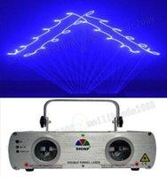 Wholesale Dimmer Bar - SHINP 2 Lens DMX 7CH Blue Laser Lights Beam Master-Slave Party DJ KTV Home Projector Bar Stage Lighting DL-11B MYY
