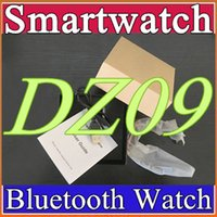 Wholesale bs silver - 10X DHL freeshipping DZ09 smart watch Sync Call push Message for IOS Android smart A1 GT08 phonecan record the sleep state Smartwatch B-BS