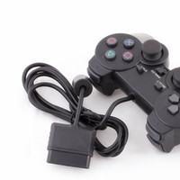 Wholesale Double Vibration Game Controller - wholesale PS2 Wired Controller Double Vibration for PS2 Joystick Gamepad game controller