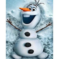 Wholesale Rooms Painted Black - Frozen OLAF 5D Full Drill Diamond Painting Home Decor Diamond Mosaic Cross Stitch Embroidery DIY Handwork (Free Shipping)