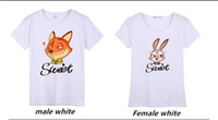 Wholesale Male Half Tee Shirts - Couple T-Shirts Zootopia Tee Sweethearts Outfit Men Women Teenagers Short Sleeve T-Shirt Class Half Sleeve Clothes Tide Male Leisure Clothes
