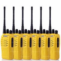 6X BaoFeng BF-888S UHF CTS 16 canais FM Ham Two Way Radio Walkie / Talkie Amarelo