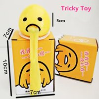 Wholesale Lazy Gudetama Vomiting Egg Tricky Toy Yolk Can Be Eaten Back Shocker Joke Gift New Depressed Creative Toys For Friends entire toy