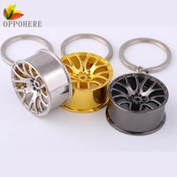 Wholesale Cool Car Hanging Accessories - OPPOHERE Cool Car Key Chain Auto Wheel Styling Keychain Keyring for Hanging Decoration Alloy Material Key Ring Car Accessories
