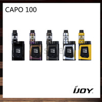 Wholesale red capo for sale - Group buy iJoy CAPO Kit With ml Captain Mini Subohm Tank W CAPO BOX MOD With mah Battery Cell Original