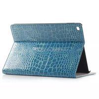 Wholesale Ipad4 Leather - Crocodile Leather Folio Kickstand Wallet Case Pouch Cover for iPad4 5 6 mini3 4 samsung T350 T550 T800 T700 T330 T550