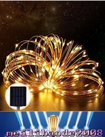 Wholesale Solar Power Flash Light - 150 LED 15meter LED Solar Powered String Light Steady on Flash Starry Silver Copper Wire Light Solar Fairy String Light Christmas MYY166