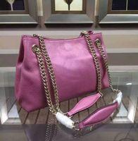 Wholesale Hobo Hand - new genuine leather women tote hand Bag famous designer lady shoulder bag women chain hobo bag 520