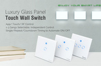 Wholesale Touch Control Gang - Sonoff T1 1 2 3 Gang WiFi Smart RF APP Touch Control Wall Light Timer Switch 86 Type UK Panel Home Automation