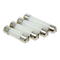 39mm geführt großhandel-LED Girlandenhaube 31mm 36mm 39mm 41mm c5w 212-2 6418 Kaltweiß Lesung Kennzeichenleuchte LED Glühbirne Milchdeckel Glühbirnen 12V