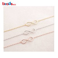 Wholesale B Component - 925 silver 8 Tiny Infinity connector sterling silver infinity links Connectors Pendant Charm Components Sterling silver accessories Lovely b