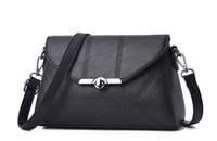 Wholesale Middle Age Bags - New fashion Satchel all-match Shoulder Bag Handbag middle-aged lady Multi-function cosmetic bag
