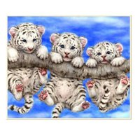 Tigri animali fai da te diamante pittura kit 40x30 cm diamante pieno punto croce strass incollato immagine sticker decorazione della casa d106