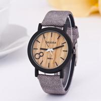 frauen armbanduhr marken großhandel-Mode Uhr Uhren Luxusuhren Holzmaserung Uhr Uhren Männer Markenuhr Frauen Herrenuhr PU Leder Quarzuhren Armbanduhr 268
