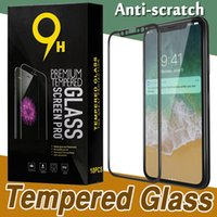 Wholesale Screen Protectors Iphone Retail Boxed - Glossy Carbon Fiber 3D Curved Edge Tempered Glass Full Cover Film Screen Protector For iPhone X 8 7 Plus 6 6S Samsung S7 With Retail Box