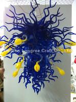 yeni ev aydınlatma tasarımı toptan satış-C70-New Varış Sanat Tasarım El Üflemeli Cam Kristal Avize Işık CE UL Belgesi için Türk Lambaları Ev Uzun Zincir Dekoratif Işık