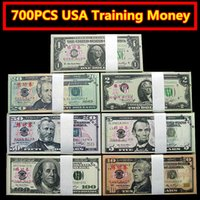 Wholesale Collectible Money - 700PCS USA Dollars Movie Props Money $100 50 20 10 5 2 1 Bank Staff Training Learning Banknotes Home Decoration Arts Collectible Gifts