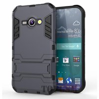 Wholesale Galaxy Advance Silicone - J1 Ace Cases Robot-Bear Dual Layer Protective Hybird Armor Case Slim Fit Advanced Shock Absorption Protection & Kick-Stand For Galaxy J1 Ace