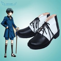 Wholesale Ciel Shoes - Wholesale-Black Butler Ciel Phantomhive Cosplay Shoes Boots Professional Handmade ! Perfect Custom for You !
