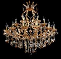 Wholesale Cristal Glass Bead - 18 lightholder chandelier crystal beads Modern chandelier Amber Lighting fixture Glass Cristal Lustre for Dining Living Room