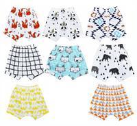 Wholesale Wolf Leggings - 8 Design INS Kids PP pants baby toddlers boy's girl's ins animal fox panda wheels Wolf geometric pants shorts Leggings