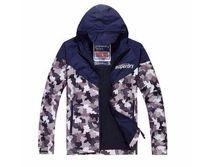 Wholesale Men Black Nylon Windbreaker Jacket - Hot sale SUPER DRY Men's windbreaker Jackets camouflage army hoodie Trenchcoat men Outerwear Coats Men's overcoat Clothing