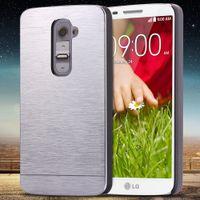 Wholesale Metal Case Lg Optimus - For LG G2 Aluminum Cover Fashion Slim Hard Metal Plastic Phone Case For LG Optimus G2 D802 D805 D801 D800 D803 LS980 WithLogo