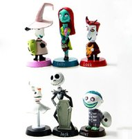 Wholesale Cars Christmas Ornament - Anime The Nightmare Before Christmas Jack Skellington PVC doll Action Figures Toy Car Dolls automobile ornaments