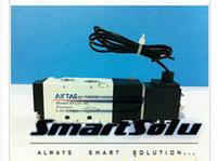 Wholesale Ac Solenoid - 1 8'' BSP Pneumatic Airtac Air Solenoid Valves 4V110-06 With Lead Wire ,5 Port 2 Position 12V 24V DC 110V 220V AC