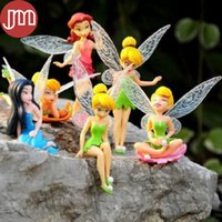 Nuovo 6 PCS Tinkerbell Playset Dolls volo Fairy Princess adorabile Trilli mini figure in PVC bambola Circa 4
