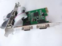 pci ekspres genişleme toptan satış-PCIe 4 Port Seri Genişleme Kartı, PCI Express 1.0x1, Endüstriyel DB9 COM RS232 için Dönüştürücü Adaptör Denetleyicisi Masaüstü PC için