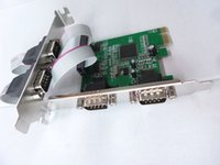 rs232 pc al por mayor-Tarjeta de expansión en serie de 4 puertos PCIe, PCI Express 1.0 x 1 a convertidor industrial DB9 COM RS232 Convertidor Controlador para PC de escritorio