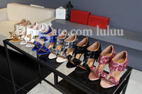 Wholesale Shoe Making Adhesive - Women Sequined Cloth High Heels Flip-Flop Flip Casual Sweet Sandals summer shoes made genuine leather heel high heels flat shoes Woman Shoes