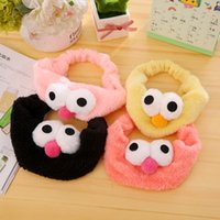 Wholesale Sesame Street Jewelry - New fashion cartoon costume hairband sesame street cartoon children's headband hair jewelry soft fabric big eye women's hair accessories