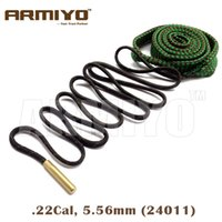 Wholesale Gun Slings - Armiyo Bore Snake Barrel Rope Rifle Gun Brush Cleaning Sling .22Cal 5.56mm 24011 Hunting Bagged Package