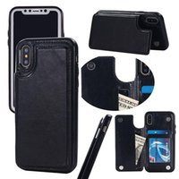 Wholesale Slimmest Iphone Folio Case - For iPhone x 8 Folio Wallet Leather TPU Case Slim Flip Card Slots Protective Back Shockproof Cover For iphone 6 7 Plus 2017