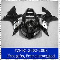 Wholesale Custom Painted R1 Motorcycle Kits - fairing kits for Yamaha 02 03 YZF R1 ABS plastic Motorcycle Fairing 2002-2003 YZF-R1 Motorbike Cowling Custom Painting Motorcycle Fairing