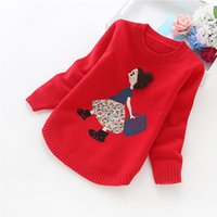 Wholesale Girls 14 Years Clothes - 2017 new girls' sweaters winter children clothes 4-14 years girls sweater